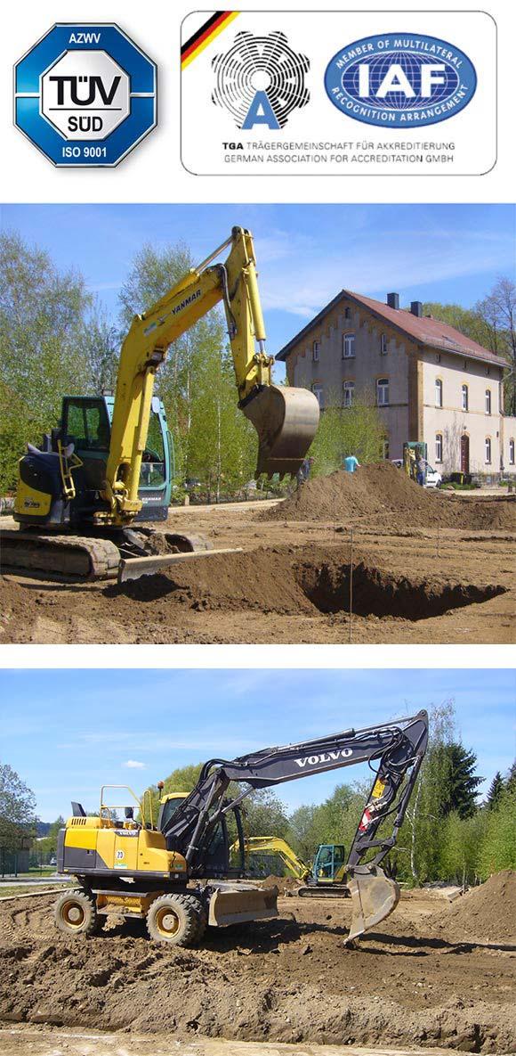 TAZ Sachsen TÜV zertifizierte Baumaschinenausbildung